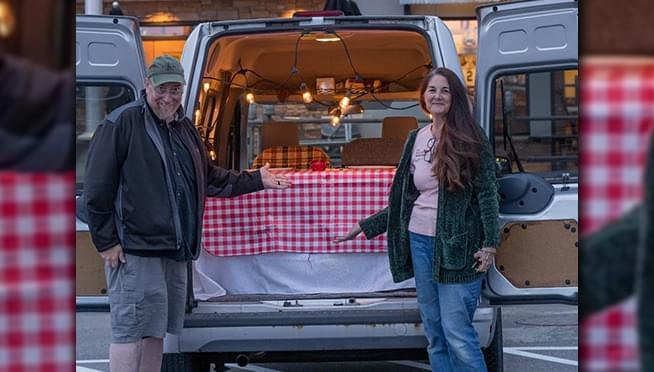 Lombard couple finds solution to dining out during pandemic… and it involves their van