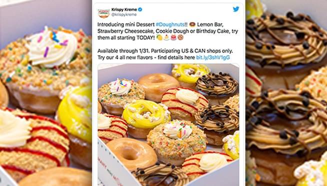 Krispy Kreme announce mini doughnuts; releases 4 dessert flavors