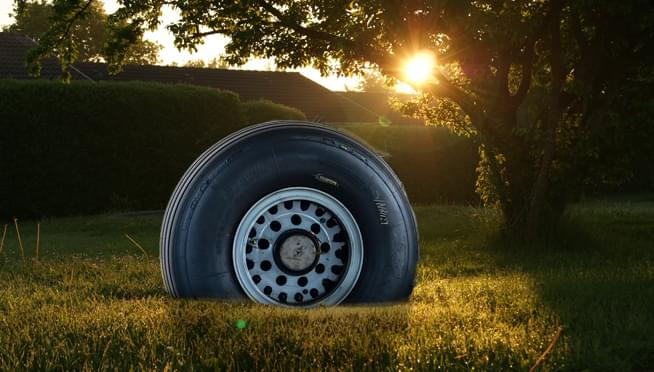 Airplane's tire lands in Chicago family's backyard