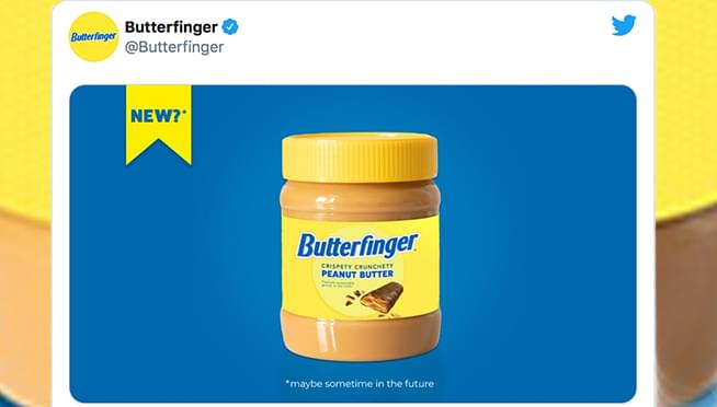 Could Butterfinger be releasing jars of peanut butter??