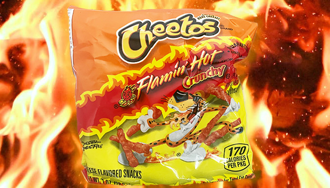 How does Flamin' Hot Cheetos Burritos with a side of fries sound for lunch?