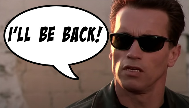 Arnold Schwarzenegger uses his movie catchphrases around the house