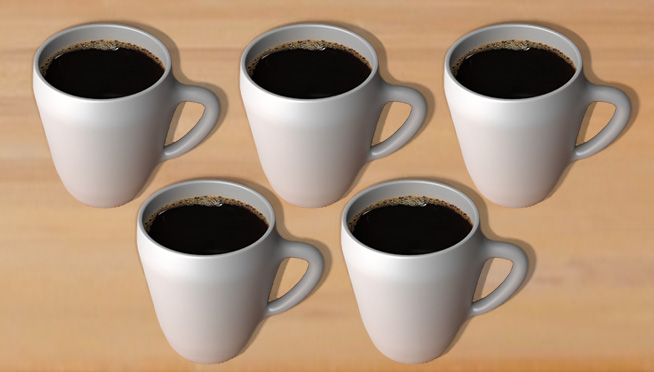 Study says you should have 5 CUPS of coffee everyday