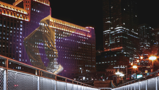 Art on theMart to feature animated footwork-inspired projections this week