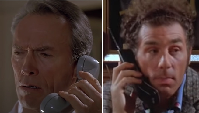 Somebody mashed up a bunch of movie scenes with their Seinfeld parody scenes