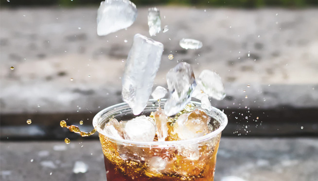 The ice in your drink might be what made you feel sick when you ate out