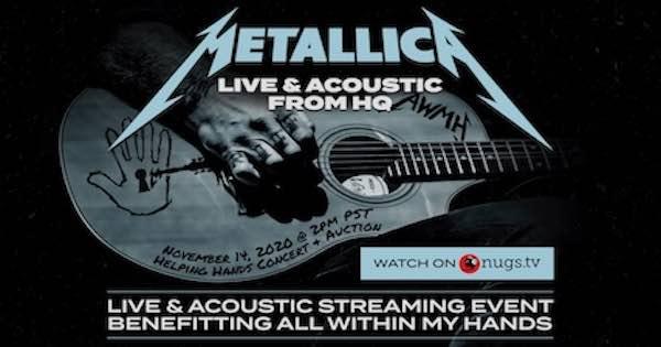 Metallica Acoustic Livestream