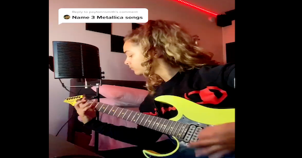 Young Woman Proves to Haters She Knows Metallica Better Than Them