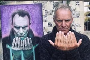 AUDIO/PHOTO: Sting Receives Portrait of Himself From Buffalo Daughter of Police Officer, Artist!