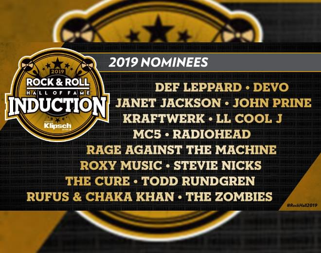 2019 Rock & Roll Hall of Fame Nominees