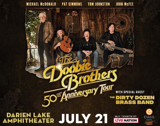 Doobie Brothers 50th Anniversary Tour Coming to Darien Lake