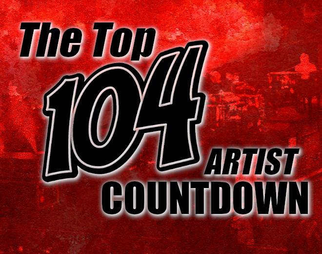 Top 104 Artists Countdown