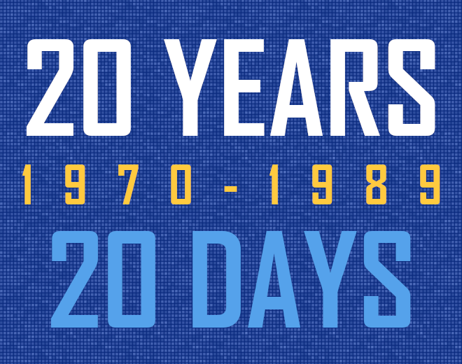 20 Years In 20 Days