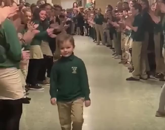 Little Boy Gets Standing Ovation From Classmates After Finishing Chemotherapy [VIDEO]