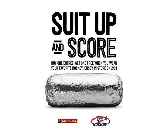 Wear A Hockey Jersey, Get Free Chipotle