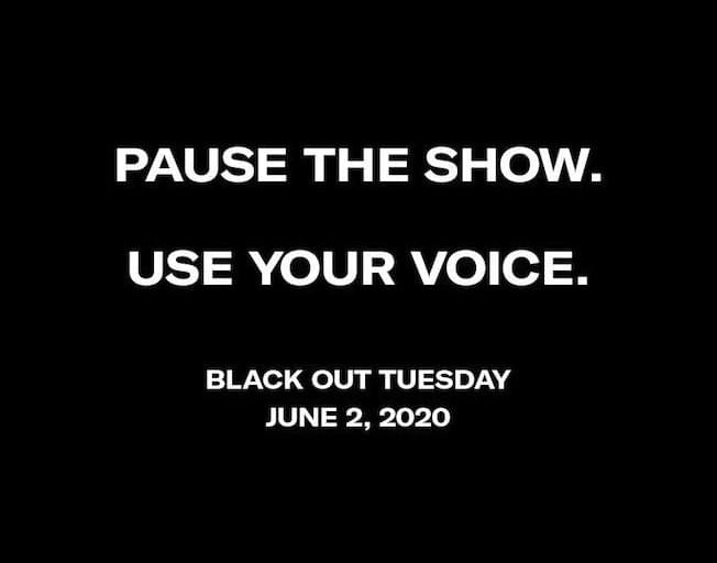 "Music Industry Calls For ""Black Out Tuesday"""