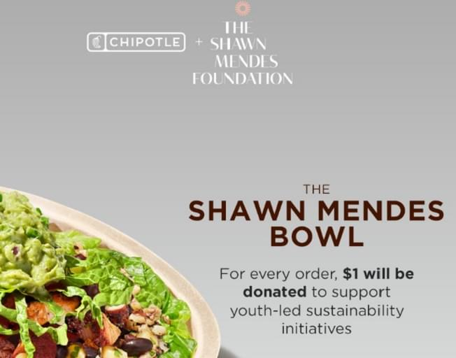 Chipotle Introduces the 'Shawn Mendes Bowl'