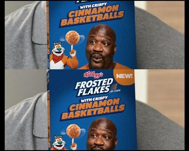 Shaq Will Be The First Person Ever To Be On A Frosted Flakes Box