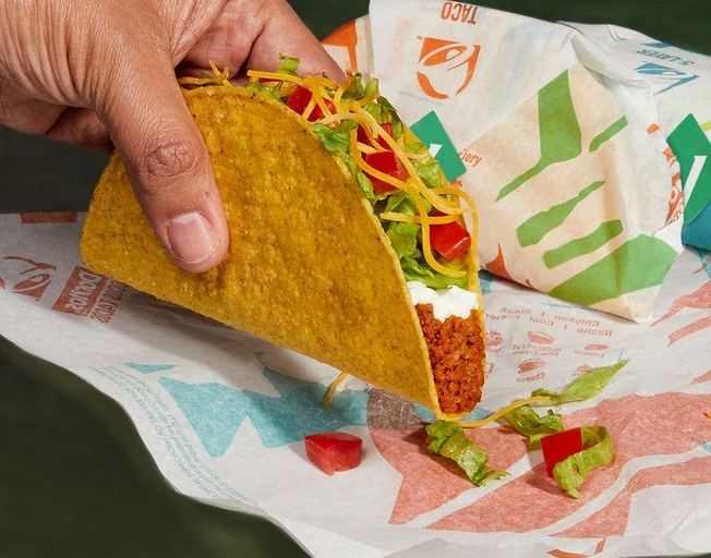"Taco Bell Is Testing A Plant-Based Protein In A New ""Cravetarian""Taco"