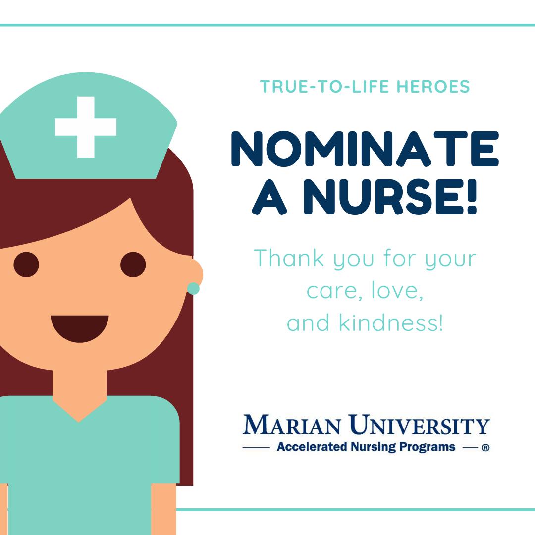 Nurses Salute with Marian University