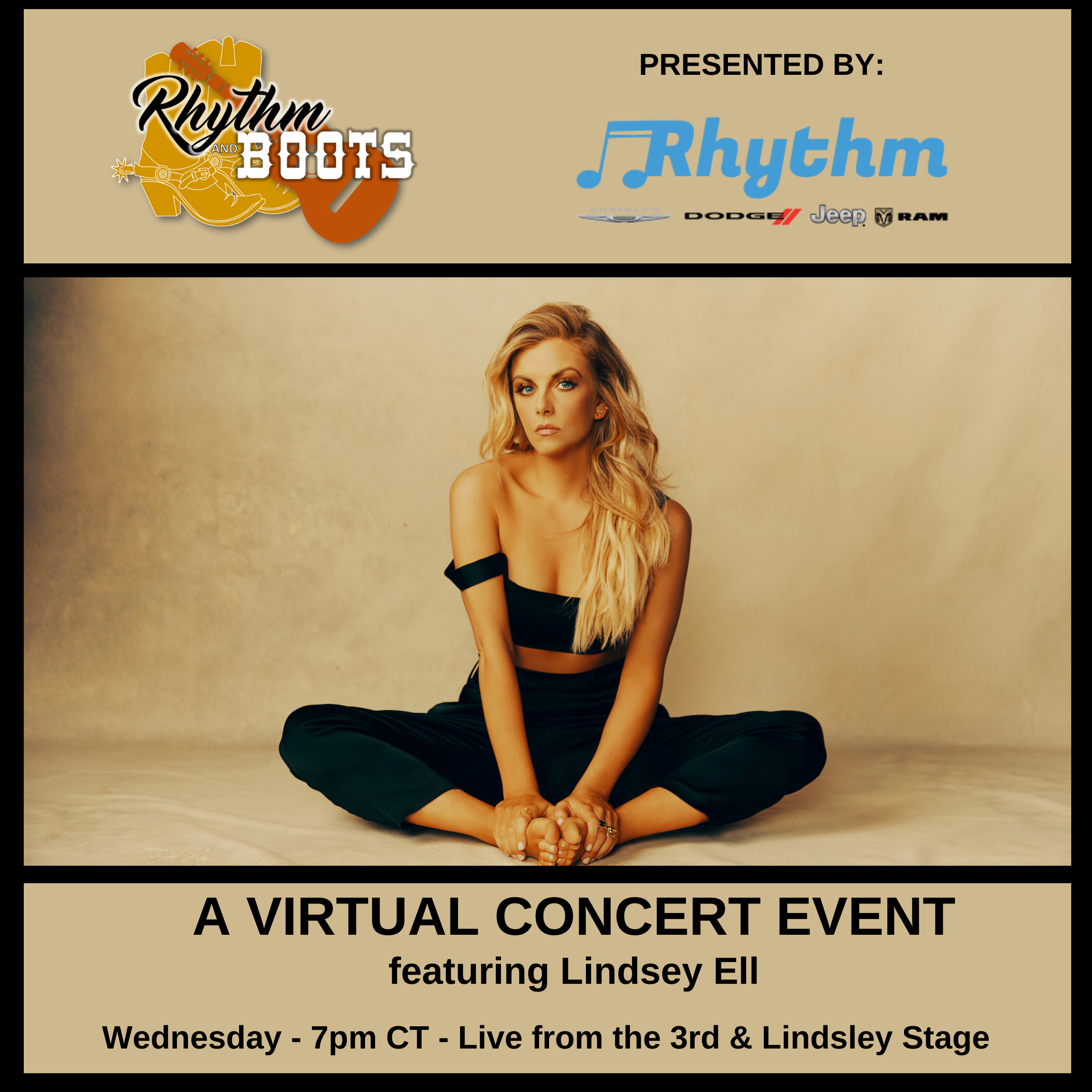 Lindsey Ell – Virtual Show – Wednesday! Copy