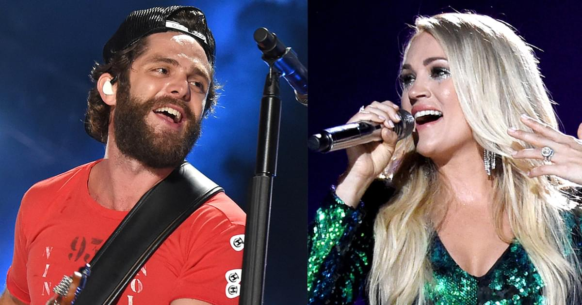 Tie! Carrie Underwood and Thomas Rhett Both Win ACM Entertainer of the Year Award