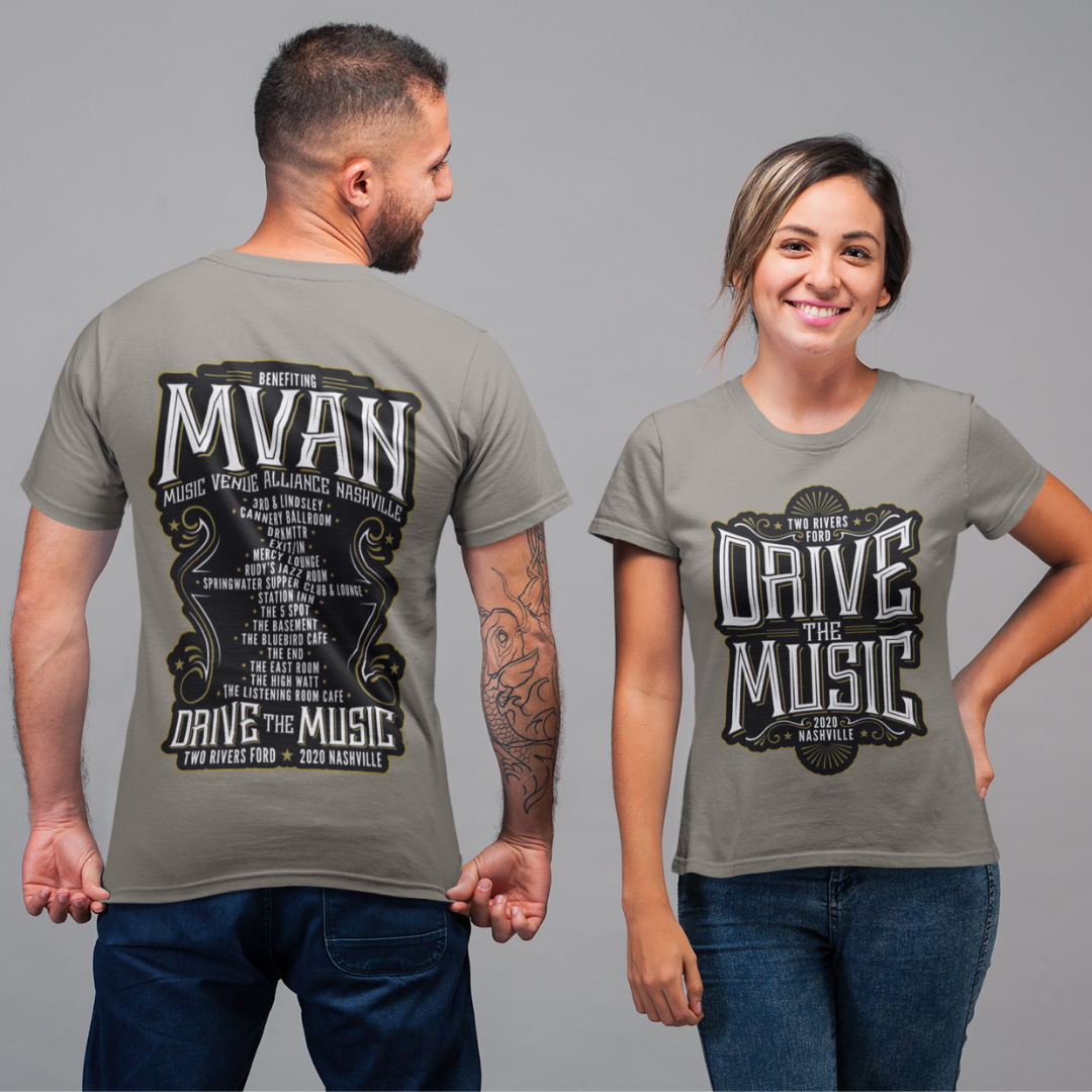 """Purchase a """"Drive The Music"""" Shirt"""
