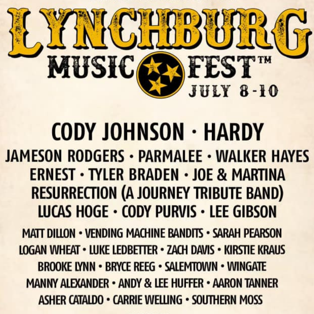 Win Weekend Passes to Lynchburg Music Fest