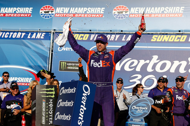 Denny Hamlin Gets Magic Back on Mile of New Hampshire Motor Speedway [VIDEO, PHOTOS]