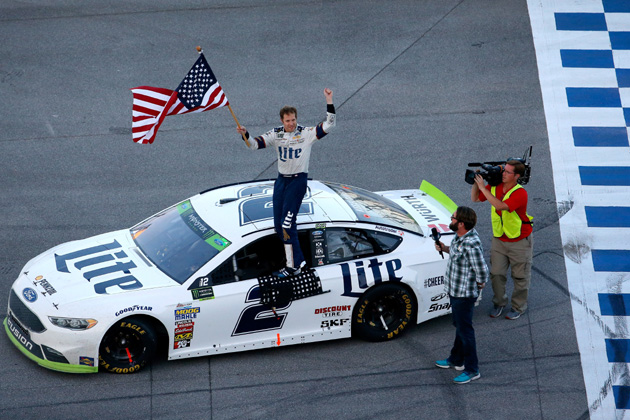 Brad Keselowski Survives and Wins NASCAR Race at Talladega [VIDEO, PHOTOS]