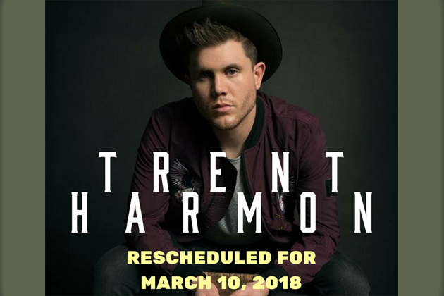 Trent Harmon Concert Rescheduled for March 10th at City Center