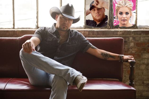 Jason Aldean, Luke Combs and Lauren Alaina