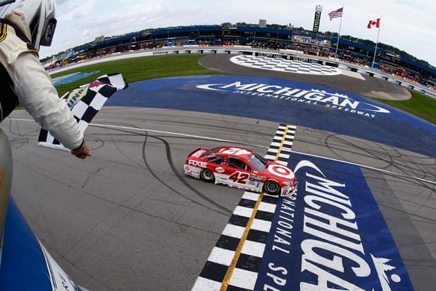 Which NASCAR Drive Can Beat Larson at Michigan?