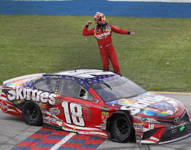 Kyle Busch Battles to a NASCAR Win at Chicagoland