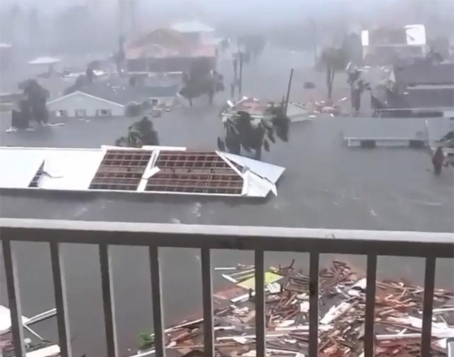 Flooding & devastation caused by Hurricane Michael