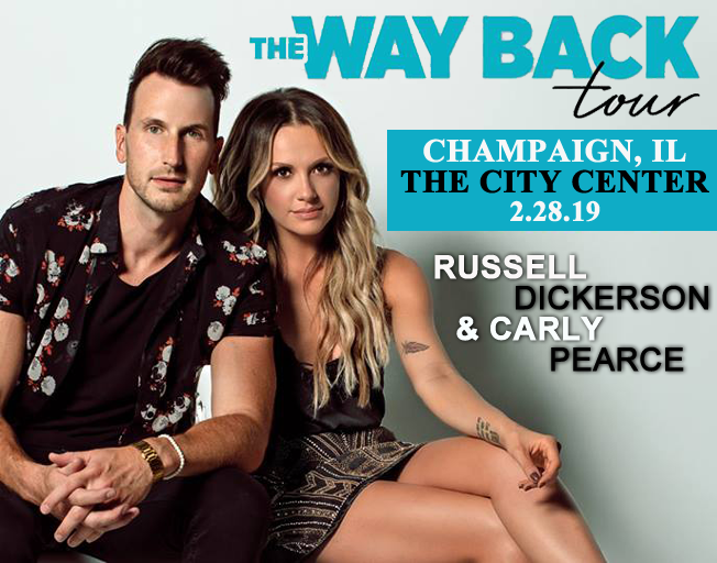 "Russell Dickerson & Carly Pearce ""The Way Back Tour"" at The City Center in Champaign, IL 2-28-19"
