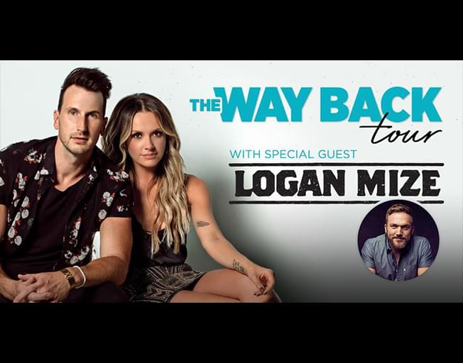 """Russell Dickerson and Carly Pearce """"Way Back Tour"""" with special guestLogan Mize at The City Center in Champaign Thursday, February 28th"""