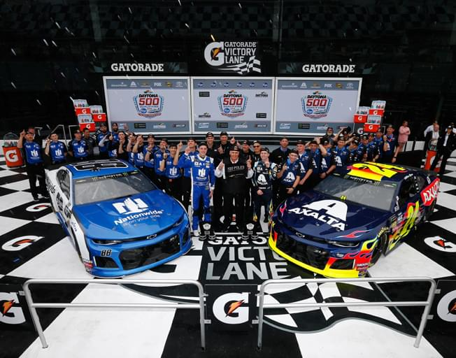 William Byron and Alex Bowman earn NASCAR Front Row for 2019 Daytona 500 Start