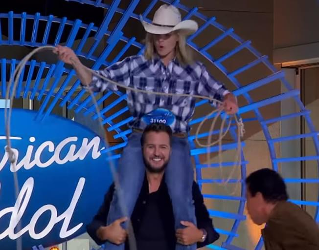 Luke Bryan Helps American Idol Contestant Lasso Katy Perry