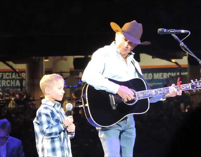 Watch George Strait's Grandson Join him Onstage at Houston Rodeo [VIDEO]