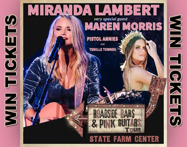 Win Miranda Lambert Tickets with B104!