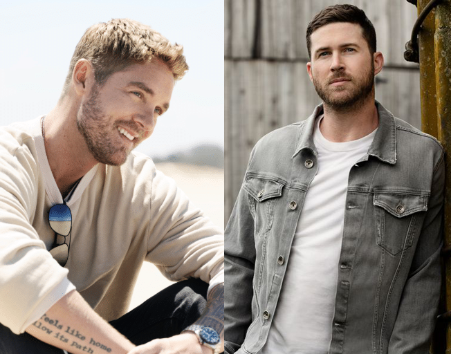Label-Mates Brett Young and Riley Green Share #1 Week