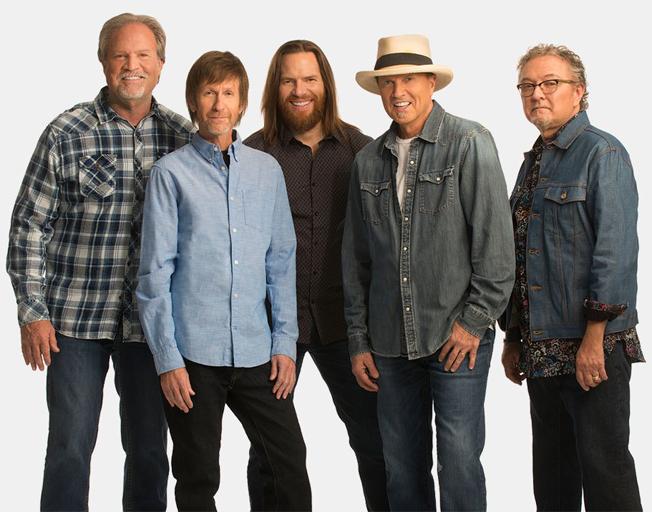 Sawyer Brown band members (L-R) Jim Scholten, Gregg Hubbard, Shayne Hill, Mark Miller and Joe Smyth.
