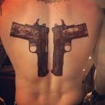 Brantley Gilbert's tattoo on his back