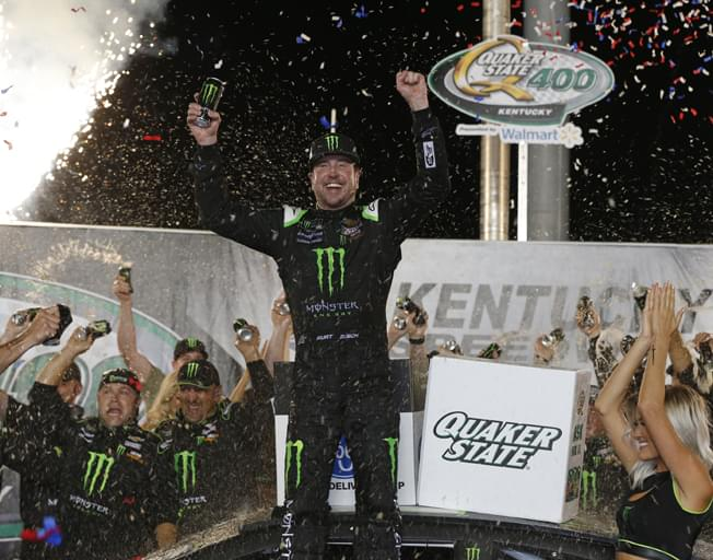 Kurt Busch Victorious in Overtime Battle of Brothers to Win NASCAR Race at Kentucky [VIDEO]