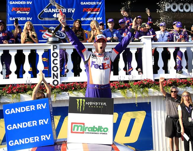 Denny Hamlin Scores NASCAR Overtime Win at Pocono [VIDEO]