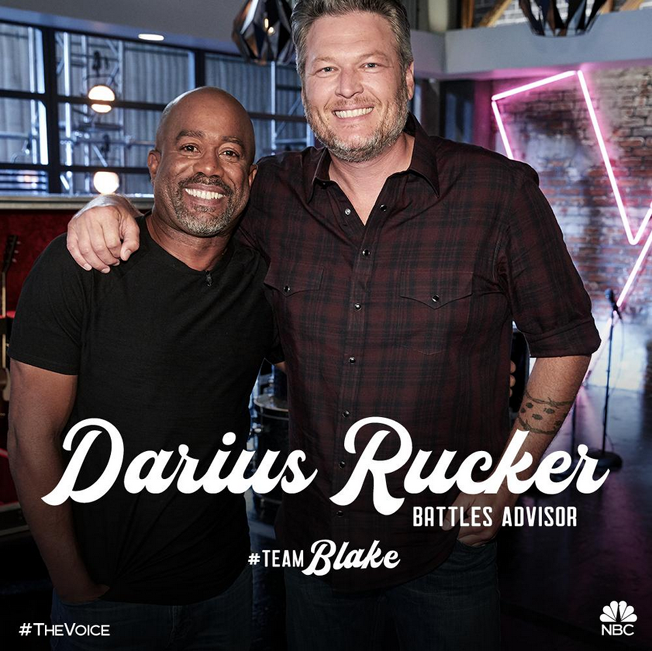 Darius Rucker and Blake Shelton on 'The Voice'