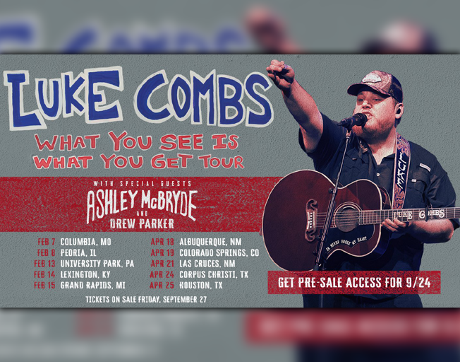 B104 Welcomes Luke Combs to Peoria in 2020