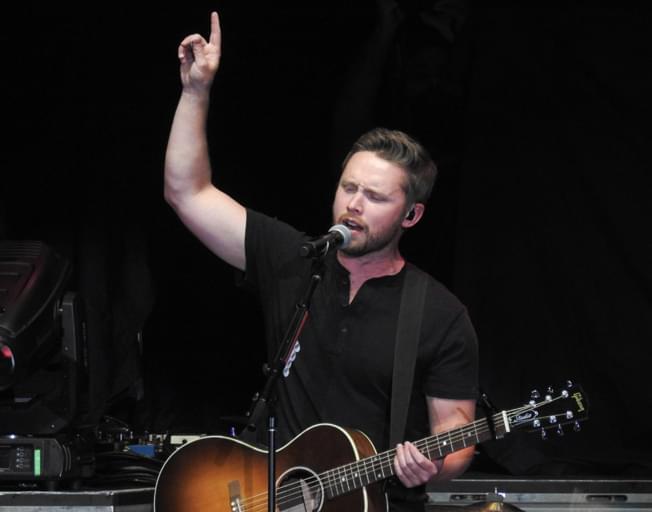 Jameson Rodgers on stage at Grossigner Motors Arena September 27, 2019 (Photo credit: Lyndsie Schlink/B104)