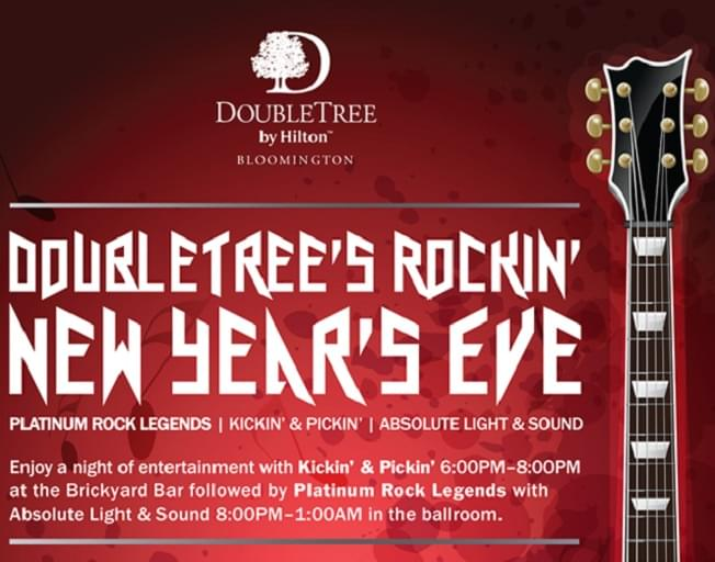 Win Tickets and Overnight Stay To Double Tree's New Years Eve Party
